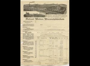 c432/ Rechnung R. Weber, Wermelskirchen Eisenbleckwarenfabrik 1922