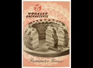 c151/ Vogeley Werbung Backrezepte Gebäck Kuchen ca.1955
