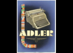 c142/ Adler Schreibmaschinen Original Werbeblatt ca.1950-55