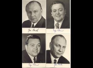 W9Z02/ 19 x Politiker Scheel, Strauß, Brandt, Wehner, Börner, Leber AK Faksimile