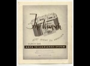 C269/ Agfa Fotoapparat Prospekt ca.1955