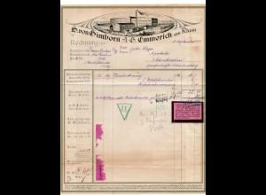 c715/ Rechnung von Gimborn, Emmerich a. Rh. 1924