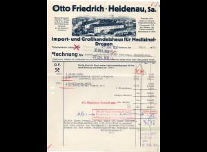 c713/ Rechnung Otto Friedrich Heidenau in Sa. Medizinal-Drogen 1931