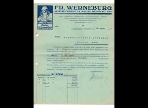 c712/ Rechnung Fr. Werneburg Lübbecke i. Westf. 1927 Durchschreibebücher