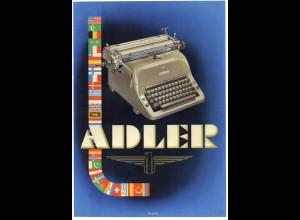 c754/ Adler Schreibmaschine Werbeblatt ca.1950