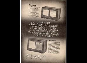 c760/ Radio Schaleco Werbeblatt ca.1938