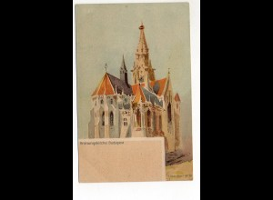U3693/ Budapest Krönungskirche Litho Ak ca.1900 Ungarn