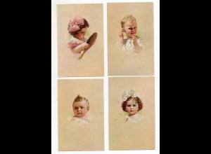 Y9885/ 4 x Künstler AK Kinder ca.1920