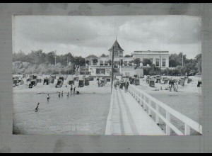 Neg4894/ Timmendorferstrand Anlegebrücke Strandhalle altes Negativ 40er Jahre