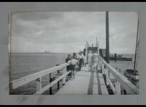 Neg4887/ Timmendorferstrand Anlegebrücke altes Negativ 40er Jahre