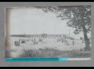 Neg4864/ Ostseebad Scharbeutz Landungsbrücke altes Negativ 40er Jahre