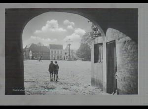 Neg4835/ Glückstadt Marktplatz altes Negativ 50er Jahre