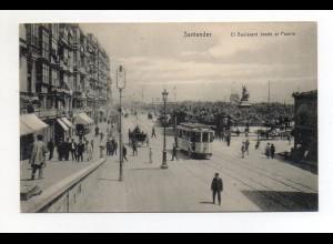 XX001421/ Santander Straßenbahn Ak Spanien ca.1910