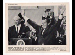 C2970/ US Präsident Richard Nixon in Berlin mit Kiesinger 1969 Bild 23 x 18 cm