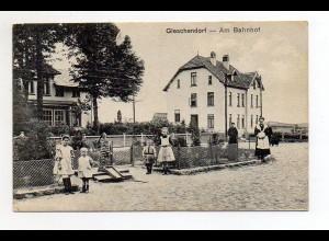 U4183-2409/ Gleschendorf Am Bahnhof AK 1920