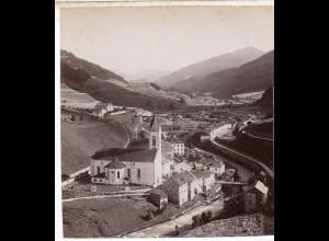 AK-0025/ Matrei Tirol Italien Stereofoto ca.1885 Fotograf Alois Beer