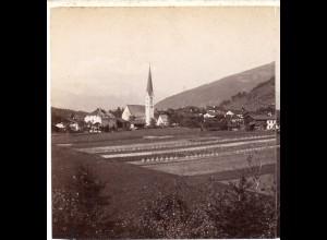AK-0024/ Mieders Tirol Italien Stereofoto ca.1885 Fotograf Alois Beer