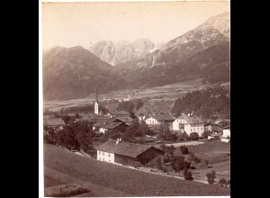 AK-0023/ Mieders Tirol Italien Stereofoto ca.1885 Fotograf Alois Beer