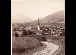 AK-0037/ Vill bei Innsbruck Tirol Stereofoto ca.1885 Fotograf Alois Beer