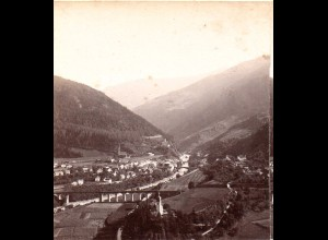 AK-0283/ Landeck mit Inn-Viadukt Tirol Stereofoto v Alois Beer ~ 1895