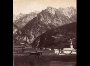 AK-0280/ Flirsch Tirol Stereofoto v Alois Beer ~ 1895