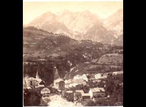 AK-0278/ Pians mit Passeiergruppe Tirol Stereofoto v Alois Beer ~ 1895