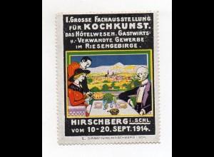 S1918/ Alte Reklamemarke Hirschberg Schlesien 1914 Kochkunst-Ausstellung