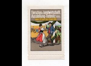 S1920/ Reklamemarke Trebnitz Schlesien Tierschau- Landw. Ausstellung 1914