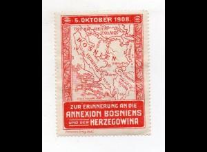 S1921/ Reklamemarke Annexion Bosnien und der Herzegowina 5.10.1908
