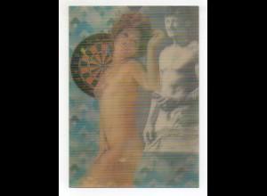 U6179/ 3 D Wackelbild AK Erotik Frau nackt ca. 1970