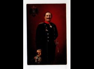 U4806/ Kaiser Wilhelm in Uniform mit Pickelhaube Verlag: Stengel Litho AK