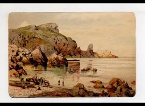 Y12446/ Künstler AK Themistokles von Eckenbrecher: Torquay, Anstis Cove ca.1900
