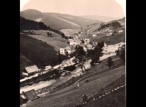 AK-0500/ Riesengebirge Großaupa Schlesien Stereofoto ca.1905