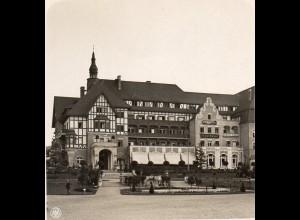 AK-0502/ Bad Kudowa Kurhotel Fürstenhof Schlesien Stereofoto ca.1905