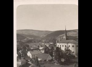 AK-0504/ Bad Reinerz Schlesien NPG Stereofoto ca.1905