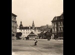 AK-0514/ Glatz vom Stadtbahnhof aus Schlesien NPG Stereofoto ca.1905