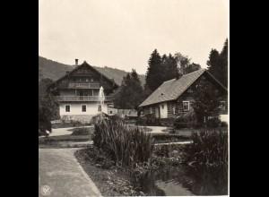 AK-0516/ Wölfelsgrund Hotel zur guten Laune Schlesien NPG Stereofoto ca.1905