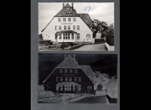 Y16234/ Norddorf auf Amrum Ambronenhaus AK + Negativ 50er Jahre