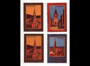 Y11243/ 4 x Reklamemarke Freiburg ca.1910 Litho