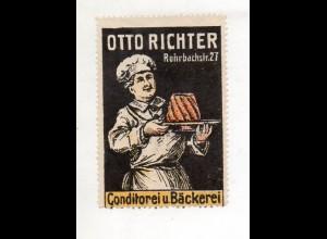 Y11246/ Reklamemarke Konditorei Bäckerei Otto Richter ca.1912