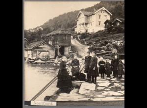 AK-0688/ Nordfjored Norwegen Stereofoto ca.1905