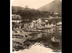 AK-0697/ Strand in Merok Norwegen NPG Stereofoto ca.1905