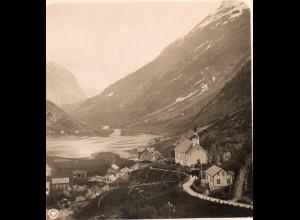 AK-0696/ Bei Hellesylt Norwegen NPG Stereofoto ca.1905
