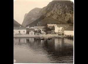 AK-0695/ Vadheim Sognefjord Norwegen NPG Stereofoto ca.1905