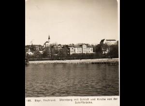 AK-0807/ Starnberg mit Schloß NPG Stereofoto ca.1905
