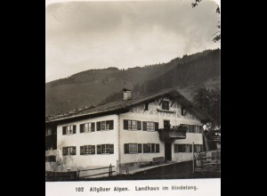 AK-0925/ Landhaus im Hindelang Allgäuer Alpen NPG Stereofoto ca.1905