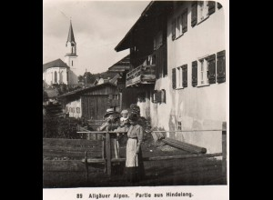 AK-0926/ Hindelang Allgäuer Alpen NPG Stereofoto ca.1905