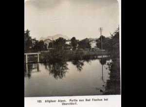 AK-0927/ Bad Fischen bei Oberstdorf Allgäuer Alpen NPG Stereofoto ca.1905