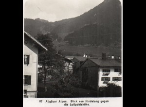 AK-0930/ Hindelang Allgäuer Alpen NPG Stereofoto ca.1905