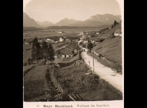 AK-0933/ Wallgau im Isarthal NPG Stereofoto ca.1905